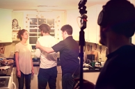 Evan Kidd Directing SON OF CLOWNS ON SET Adam Ferguson Anne Marie Kennedy Connor James