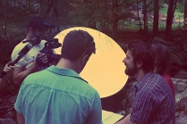 SON OF CLOWNS CREW AND CAST WORKING EVENING RIVER SCENE